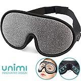 Sleep Mask,Unimi Eye Mask for Sleeping 3D Breathable Memory Foam Contoured Modular Nap/Travel/Shift