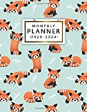 Monthly Planner 2020-2024: Five Year Monthly Agenda & 5 Year Organizer | 60 Months Spread View with To-Do's, Inspirational Quotes, Vision Boards, Notes & More | Adorable Red Panda Bear & Bamboo