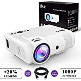 """DR.Q 2400 Lumen Projector, mini Projector with 170"""" Display, 50000 Hours, Video Projector"""