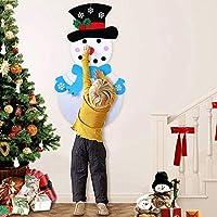 sunnymi 3D DIY en Feutre pour Enfant de Noël Bonhomme de Neige Nouvel an Enfants Cadeaux Jouets de Lecture pour Enfants Arbre Traditionnel d'intérieur DIY Craft Decor, Feutre, Rose, 50x100cm