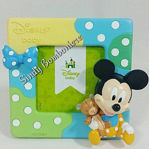 Portafoto disney topolino mickey mouse baby bomboniere fai da te battesimo primo compleanno nascita q063900