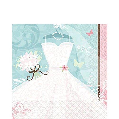 Amscan Servietten Hochzeitskleid 36er Pack groß