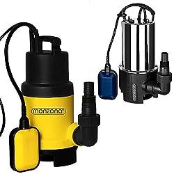 Wasserpumpe Tauchpumpe Tauchdruckpumpe | 650 Watt | 11.500 l/h | 10 m Anschlußkabel | Farbe: Schwarz/gelb