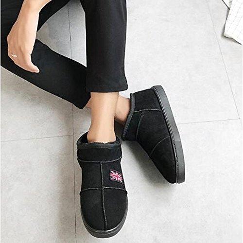 Hsxz Femmes Chaussures Polyamide Tissu Fluff Printemps Chute De Neige Doublure Bottes Bottes Plat Bottines / Bottines Pour Extérieur Décontracté Kaki Café Rose Rose