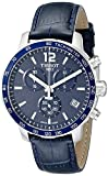 Tissot Men's 42mm Blue Synthetic Leather Band Steel Case S. Sapphire Quartz Watch T0954171604700