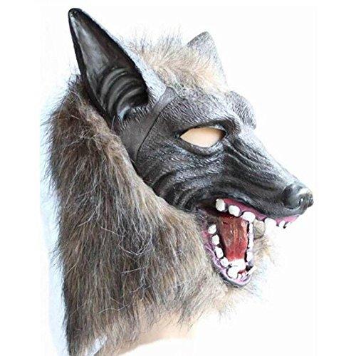 Qi Hong Halloween Horror Devil Masquerade Requisiten Maske Vollkopf Wolfskopf Maske