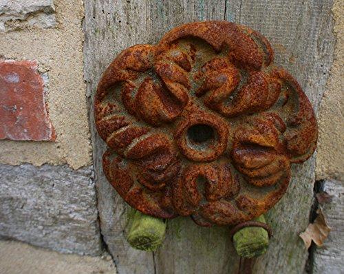 "Antikas - Maueranker Dekoration am Fachwerk+Gartenmauer Ornament ""Rosenblüte"" Pfettenanker"