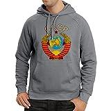 lepni.me Kapuzenpullover СССР Russisches Flaggenhemd der Sowjetunionshemd (Medium Graphit Mehrfarben)