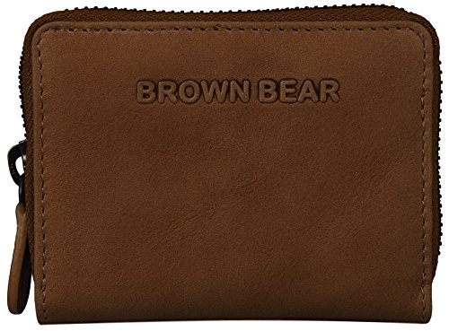 Brown Bear , Porta carte di credito  Uomo Donna Unisex adulto marrone vintage camel 0