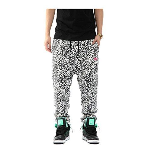 Pizoff Uomo Hip Hop Pants Joggers con stampa maculata Y0510-L-P