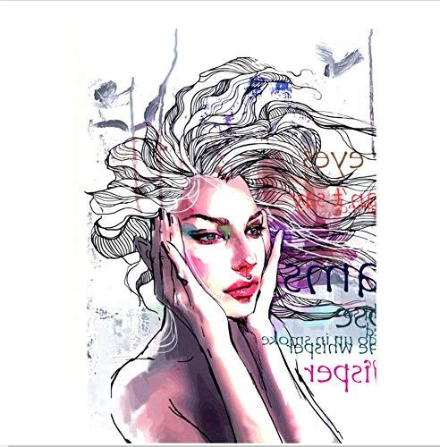 ruofengpuzi Glamour Frau Wasserdicht Temporäre Tätowierung Aufkleber Magazin Cover Girl Flash Temporäre Weibliche Tätowierung Ärmel