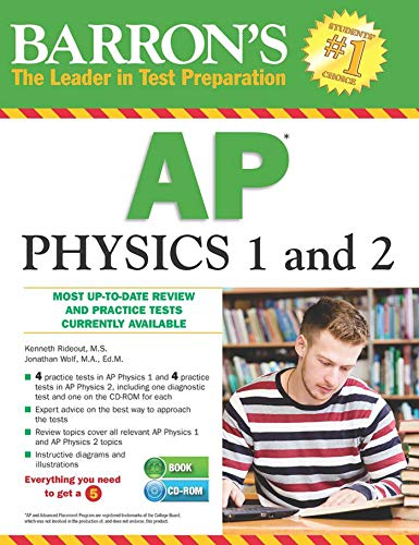 Barron's AP Physics 1 and 2 with CD-ROM por Kenneth Rideout M.S.