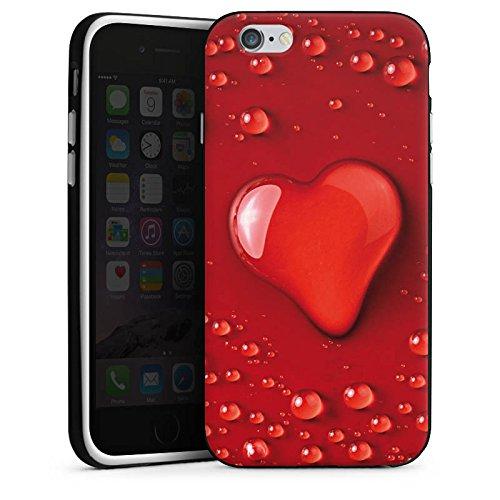 Apple iPhone 4 Housse Étui Silicone Coque Protection Amour eau goutte C½ur Motif Housse en silicone noir / blanc