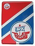 FC Hansa Rostock - Blechpostkarte mit Umschlag 14,5 x 19,5 cm - Neu