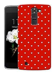 "Humor Gang Cute Little Hearts - Red Printed Designer Mobile Back Cover For ""LG K10"" (3D, Matte Finish, Premium Quality, Protective Snap On Slim Hard Phone Case, Multi Color)"