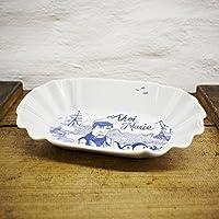 Pommesschale Porzellan - Handgemacht von Ahoi Marie - Motiv Seemann Piet - Maritime Currywurst-Schale original aus dem Norden