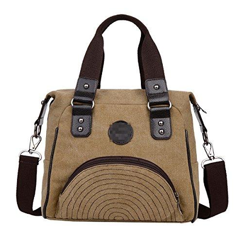 Leinwand Damen Mode Freizeit Vielseitig Umwelt- All-Spiel Handtasche Einzelne Schulterbeutel Beige2