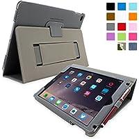 Snugg iPad Air Caso (Grigio), Copertina in Ecopelle Intelligenti, Rivestimento Interno di Qualità in Nabuk, Supporto Flip-stand con una Garanzia a Vita per Apple iPad Air
