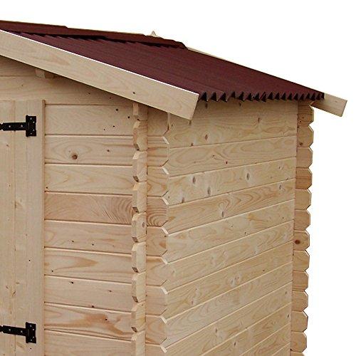 Box casetta in legno 195x195xh200cm pavimento giardino for Casetta in legno prezzo