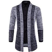 Otoño y Invierno hombres Batir Color koreanischen Chaqueta de punto jersey, color gris claro, tamaño small