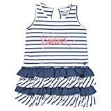 Bóboli Mädchen Kleider Combined Dress For Girl, Blau (Stripes 9440), 116 (Herstellergröße: 6)