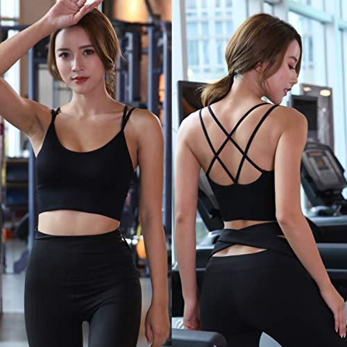 TENDYCOCO Sport-BH für Frauen Komfort Gepolstert Nahtlose High Impact Unterstützung für Yoga-Fitness-Workout Fitness - Schwarz S - 6