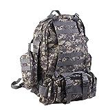 Military Tactical Rucksack Molle Assault Backpack Bag Hiking 65L Acu Camo