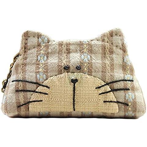Kitty Purse facile da cucire progetto prima Kit da cucito Kit Completo con motivo e tessuto Brown