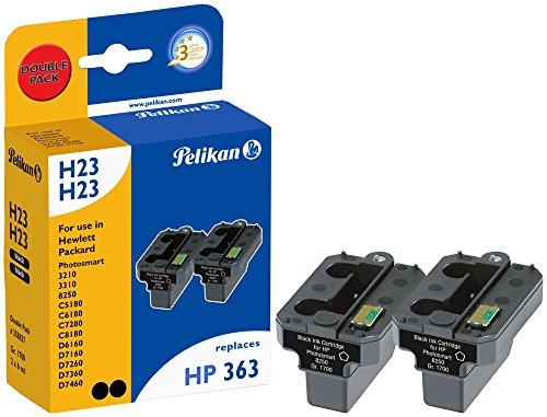 Pelikan Druckpatronen DoppelPack H22H22 ersetzt HP C8721EE, 2x Schwarz