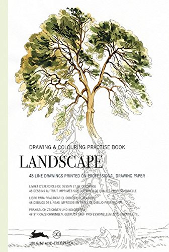 Landscape: Drawing & Colouring Practise Book: drawing & colouring practice book por Pepin Van Roojen