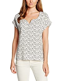 Tom Tailor Denim S-Less Printed Blouseshirt, Blouse Femme, Small