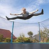 Ultrasport Kinder Gartentrampolin Uni-Jump 183 cm  inkl. Sicherheitsnetz – Blau - 3