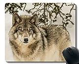 Yanteng Tapis de Souris de Jeu personnalisé, Loup antidérapant Tapis de Souris de...