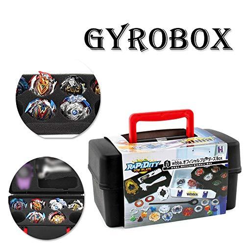 TAOtTAO Burst Gyro Aufbewahrungsbox Battle Gyro Aufbewahrungsbox Tragbare wasserdichte Box 8 in 1 Tragetasche für Beyblade Burst Spinner -
