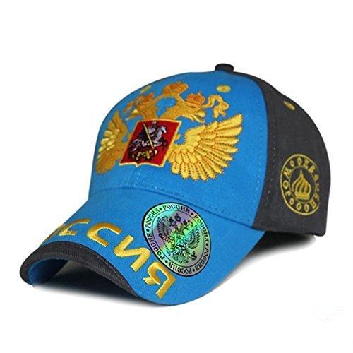 2014Fashion Olympische Russland Sotschi Bosco Baseball Snapback Cap Hat Sunbonnet Sports Casual Gap für Mann und Frau Hip Hop, damen, hellblau