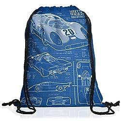 style3 917K Blaupause Rucksack Tasche Turnbeutel Sport Jute Beutel Le Mans