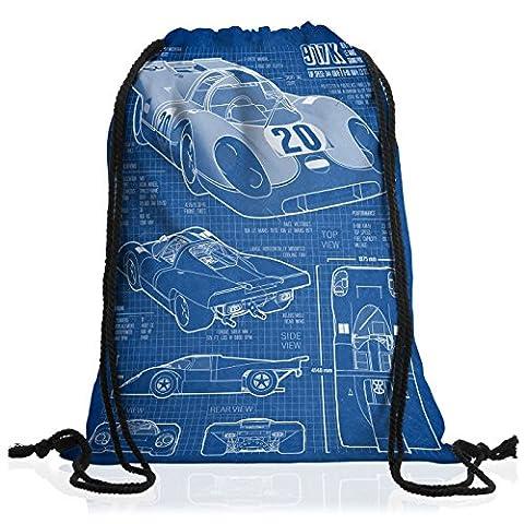 style3 917K Blaupause Rucksack Tasche Turnbeutel Sport Jute Beutel Le