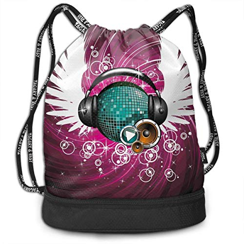 Headphone Swimming Drawstring Bag Backpack Bundle Backpack ()