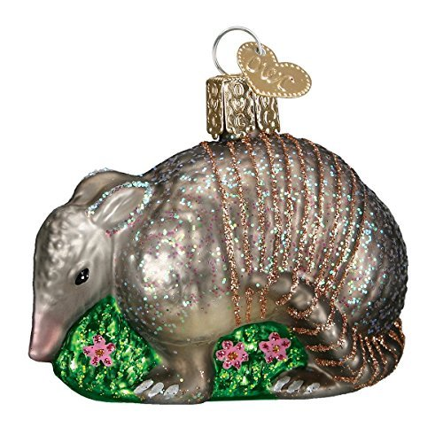 Old World Christmas Armadillo Glass Blown Ornament by Old World - Ornament Christmas Armadillo