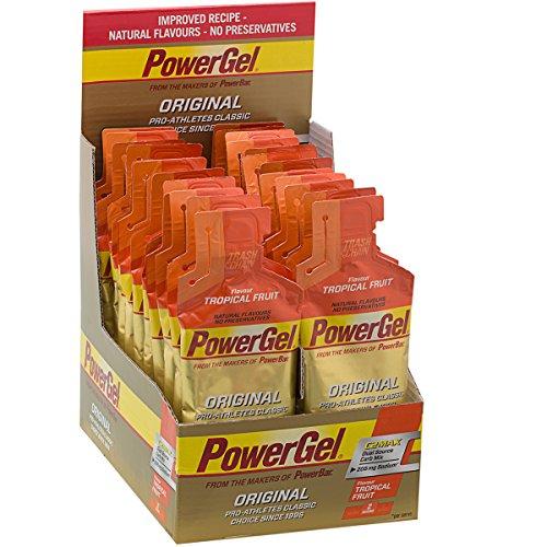 Powerbar - Sobres de gel energético (24 unidades, 41 g, fruta tropical), multicolor