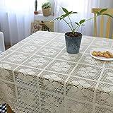 Vintage handgemachte gehäkelte Gewebte Spitze Tischdecke, 140X180CM für Home Hotel Café Restaurant, Hitze und Feuchtigkeitsresistent