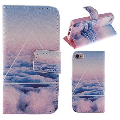HUANGTAOLI Protettiva Flip Case Cover per Apple iPhone 4 4S 4G C68