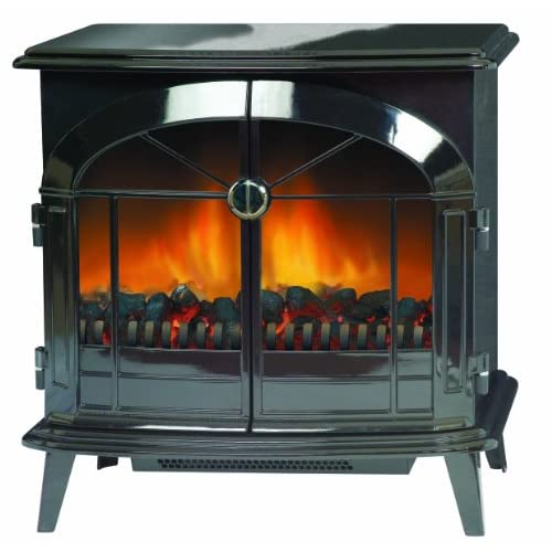 Dimplex SKG20BL Stockbridge Traditionally Styled Optiflame Effect Electric Stove, 2 Kilowatt