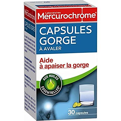 Mercurochrome capsule gorge aux huiles essentielles 30 unités Prix Unitaire