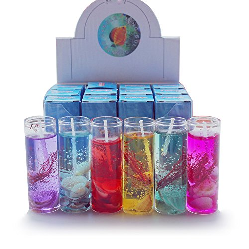 ODJOY-FAN 1 Stück Kreativ Ozean Kerze Aromatherapie Rauchlos Kerzen Ozean Muscheln Valentines Kerze Duftend Gelee Kerze Party Beleuchtung Wohnaccessoires Candle (2.7×8cm) (Multicolor,1 PC)