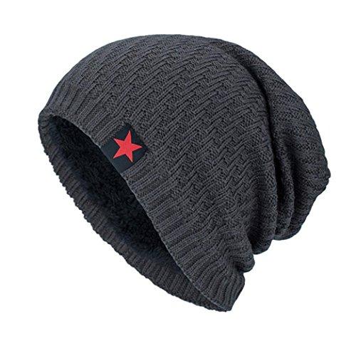 Kobay Unisex Strickmütze Hedging Kopf Hut Beanie Cap Warm Outdoor Fashion Hut (44~60cm, Grau)