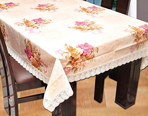 Yellow Weaves Dining Table Cover Waterproof Floral 6 Seater ,Plastic,60 X 90...