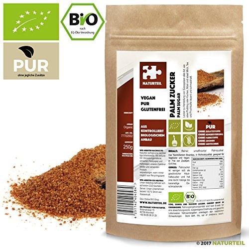 250 g Palmzucker Bio - Im Aromadichten & Wiederverschließbaren Beutel - Naturteil