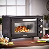 VonShef 30L Black Mini Oven & Grill 1600W with Baking Tray & Wire Rack