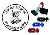 Taucherstempel « TAUCHER 05 » mit persönlichem Namen & Tauchspruch - Abdruckgröße ca. Ø 24 mm